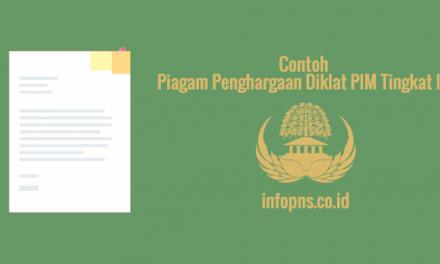 [SAMPEL] Piagam Penghargaan Diklat PIM Tingkat III