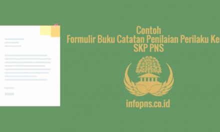 [SAMPEL] Formulir Buku Catatan Penilaian Perilaku Kerja SKP PNS
