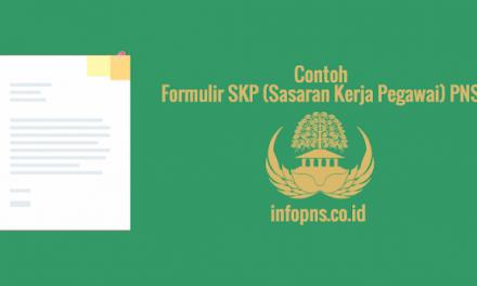 [SAMPEL] Formulir Sasaran Kerja Pegawai (SKP) PNS