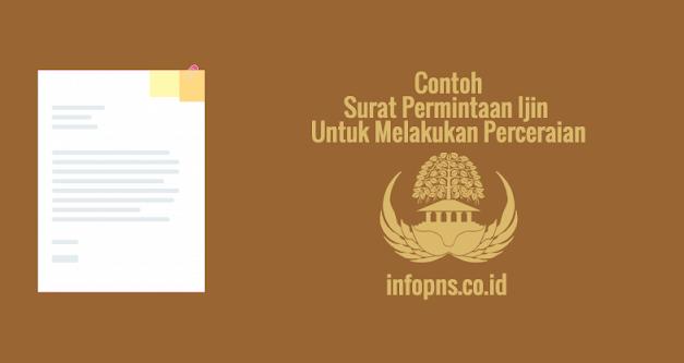 [SAMPEL] Surat Permintaan Ijin Untuk Melakukan Perceraian