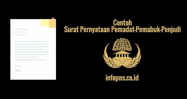 [SAMPEL] Surat Pernyataan Pemadat-Pemabuk-Penjudi