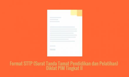 [SAMPEL] Format STTP (Surat Tanda Tamat Pendidikan dan Pelatihan) Diklat PIM Tingkat II